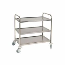Chefset Steel 3 Tier Trolley Large