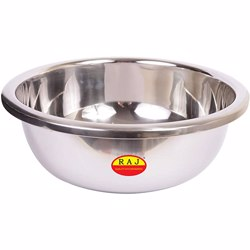 Raj Silver Touch Mixing Bowl 55cm