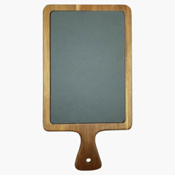 Raj Acaicia Wood And Slate Serving Board37X26.5X1.5cm