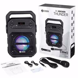 Zoook Rocker Thunder 20 watts Bluetooth Speaker with Karaoke Mic/TF/FM/LED/USB/Party Speaker preview