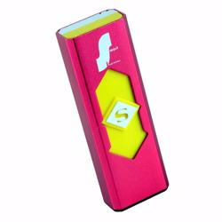 Metallic USB Rechargeable Electronic Lighter - Mettalic Fuchsia Pink
