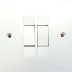 R-Max 2Gang 1Way Switch - Waterproof -50p/ctn