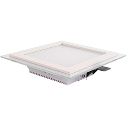 6W Square Glass Panel (White + Warm White + Day Light)