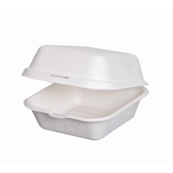 "BioWare 200 Piece 8"" Clam Shell Bagasse Biodegradable"