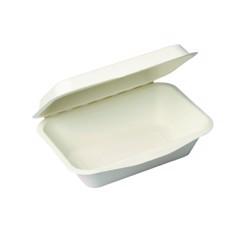 BioWare 500 Piece 600ml Clamshell Biodegradable