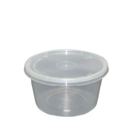 Hotpack 500pcs Microwave PP Container with Lid 525ml