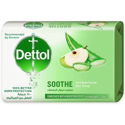 Dettol Sooth Anti- Bacterial Bar Soap 165g (Aloe Vera & Apple) preview
