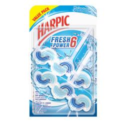 Harpic Toilet Block Fresh Power 6 Marine Splash, Value Pack, 2x39g, (1x6pcs)