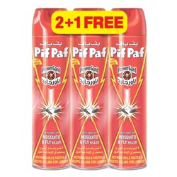 Pif Paf All Insect Killer Aerosol, 400ml 2+1, (1x16pcs)