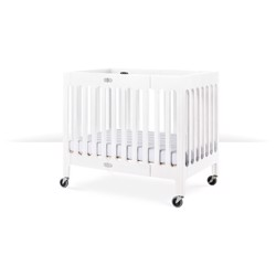 Foundations USA Boutique Folding Wood Crib - Matte White
