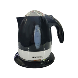 Roomwell Retro Black 1 Litre Capacity Kettle, Abs Body With Water Level Indicator - Black