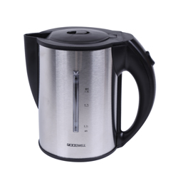 Roomwell Stainless Steel Portable Electric Hot Water Kettle - 1 Liter, Finger Print Resistant