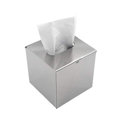 Roomwell Square Stainless Steel Tissue Box Holder