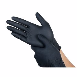 Clean Care Nitrile Gloves Medium Black 100pcs Powder Free