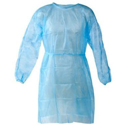 Isolation Gown 25GSM SS - Non Woven (without cuff) - Medical Blue