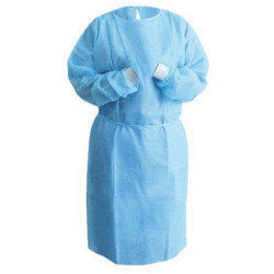 Isolation Gown 50GSM SS - Non Woven (with cuff) - Medical Blue