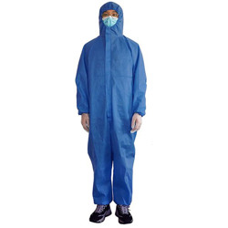 Coverall 50 GSM SS - Non Woven With Elastic Wrist - Medical Blue