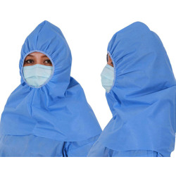 Disposable Hijab - Non Woven SS - Medical Blue