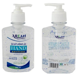 Arean Hand Sanitizer Gel With Fragrance - 250 ml bottle