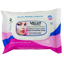 Arean Make-up Removal Wipes - 1 pack x 25 wipes