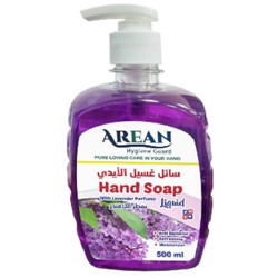Arean Antibacterial Liquid Hand Soap With Moisturizer - Lavender Flavour - 500 ml