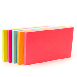 Post-it® Notes 655-5PK, 3 in x 5 in, Neon Colors -Multicolor preview
