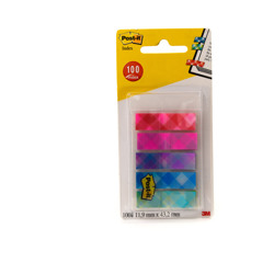 Post-it® Index in Sleeve Dispenser Plaid Printed Collection 5 Packs of 20 Sheets 11.9 mm x 43.2 mm -Multicolor