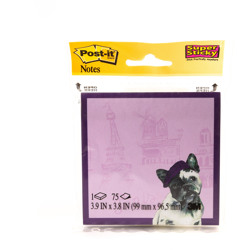Post-it® Super Sticky Printed Notes 6355-PET-CITY, 3.9 in x 3.8 in, Printed Pet Designs -Multicolor