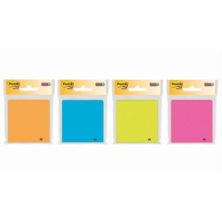Post-it® Super Sticky Notes, 3365-SSAU-MX, 3 in x 3 in, Rio de Janeiro Colors