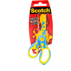 Scotch™ DECO Kids Scissors Mixed Shipper (Green, Blue or Pink) 1/Pack 13 cm