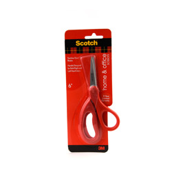 Scotch™ Home & Office 6 in Scissors 1406, 6 Inners /Case -Multicolor (1pkt/12pcs)
