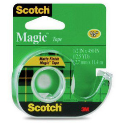 Scotch® Magic™ Transparent Tape 104, 1/2 in x 450 in -Transparent