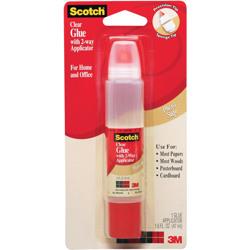 Scotch® Clear Glue in 2-way Applicator, 6050, 1.6 oz -White