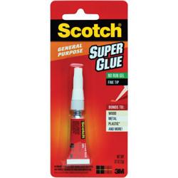 Scotch® Super Glue Gel AD113, .07 oz, 1-Pack -White
