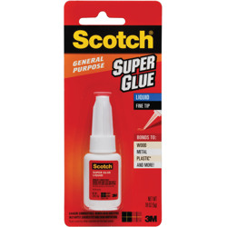 Scotch® Super Glue Liquid AD110, .18 oz bottle -White