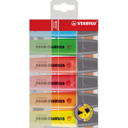 Stabilo Highlighter Boss Original Wallet Of 6 Assorted Colours