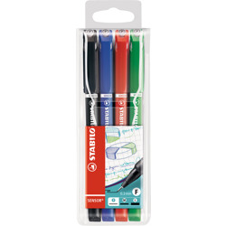 Stabilo Fineliner Sensor Wallet Of 4 Assorted Colours