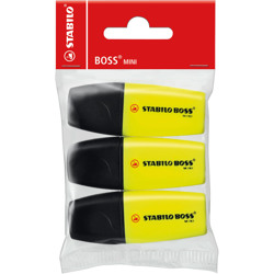 Stabilo Highlighter Boss Mini Pack Of 3 Yellow