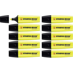 Stabilo Highlighter Boss Original Yellow Box Of 10