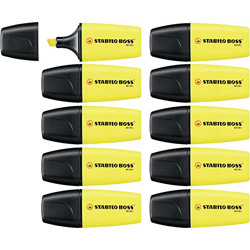 Stabilo Highlighter Boss Mini Yellow Box Of 10