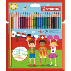 Stabilo Colouring Pencil Color Wallet Of 24 Assorted Colours