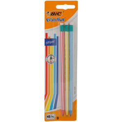 Bic Evolution Pencil Blister With Eraser (3 Pcs)