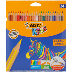 Bic Coloring Evolution Stripes Pencil (24 Pcs)