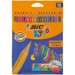 Bic Coloring Evolution Stripes Pencil (18 Pcs)