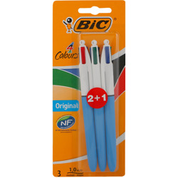 Bic 4 Colours Original Retractable Ballpoint Pen Medium Point (1.0 Mm) - Pack Of 1