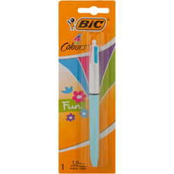 Bic 4 Colours Original Retractable Ballpoint Pens Medium Point (1.0 Mm) - Pack Of 2+1
