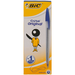 Bic Cristal Ballpoint Pen Medium Point (10 Pcs) - Blue