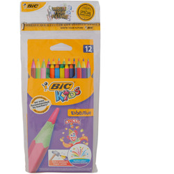 Bic Wax Crayon Wallet 12 + Coloring Pencil Circus Wallet 12