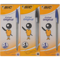 Bic Crystal 2 Blue Box10 +1Crystal Black Box10