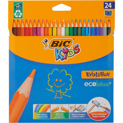 Bic Kids Evolution Ecolutions Colouring Pencils - Assorted Colours, Pack Of 24